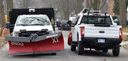 Trucks will make two passes to clear a total width of 16 feet on residential streets within 24 hours of snow events.