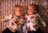 Rare condition makes rainbow twins a bit more special