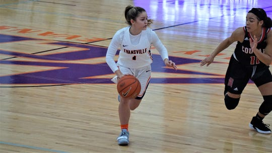 University of Evansville women's basketball freshman Anna Newman was an Indiana Senior All-Star last season at North High School.