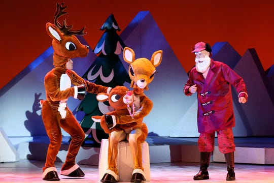 "A scene from  ""Rudolph the Red-Nosed Reindeer: The Musical"""