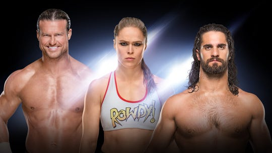 WWE's Dolph Ziggler, Ronda Rousey and Seth Rollins