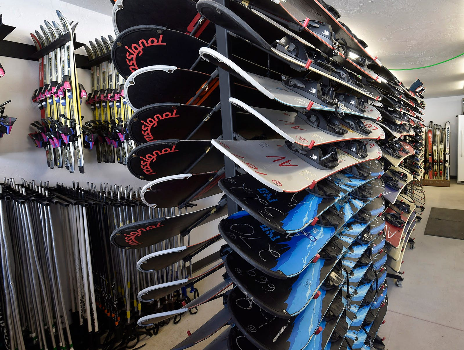 Snowboard and ski rental with boots/helmet/poles is $10 at Winter Park in Kewaunee. Tina M. Gohr/USA TODAY NETWORK-Wisconsin