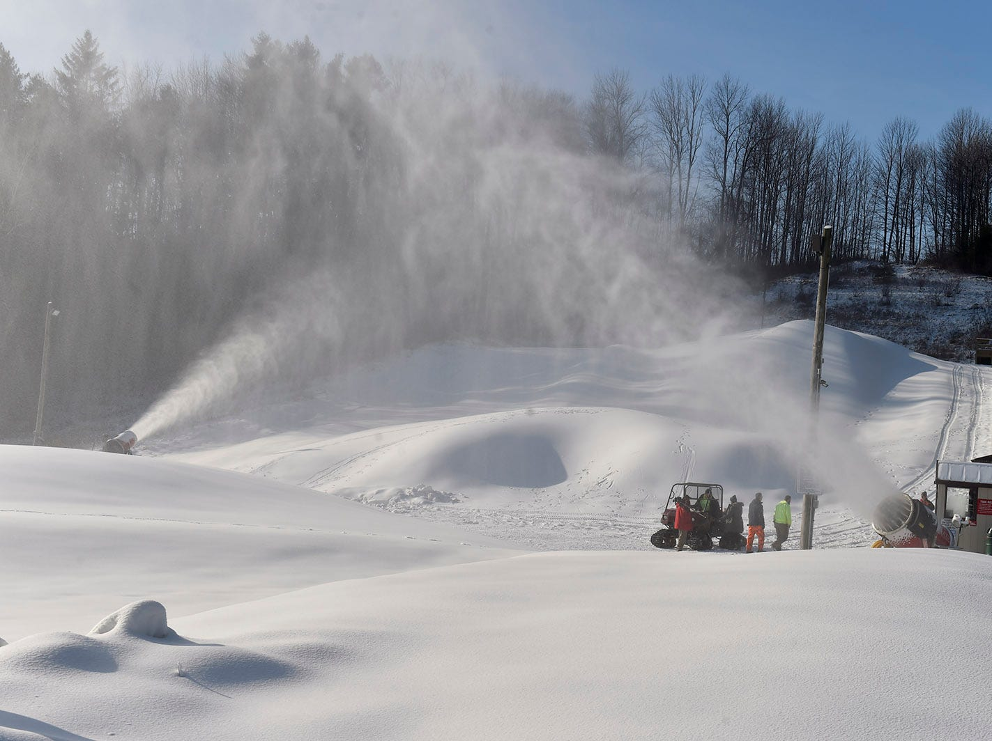 Making snow at Winter Park in Kewaunee. The kid-friendly park offers tubing, skiing, snowboarding and snowshoeing. Tina M. Gohr/USA TODAY NETWORK-Wisconsin