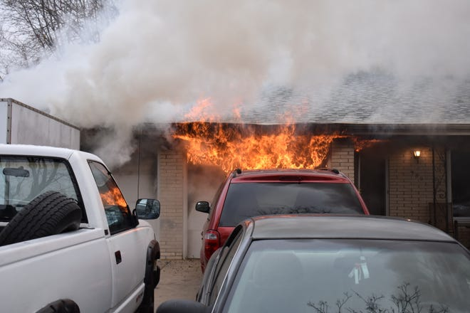 Five people were displaced by a house fire in Ashwaubenon Tuesday morning.