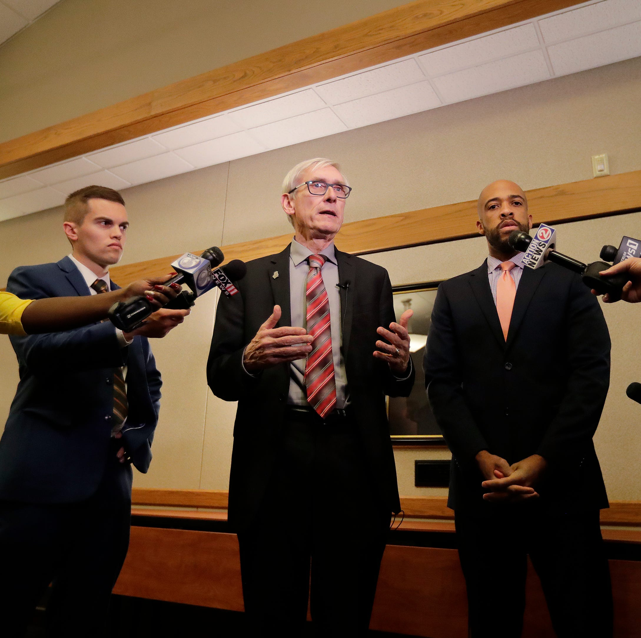 Tony Evers, Mandela Barnes hold Green Bay listening session amid lame-duck tension