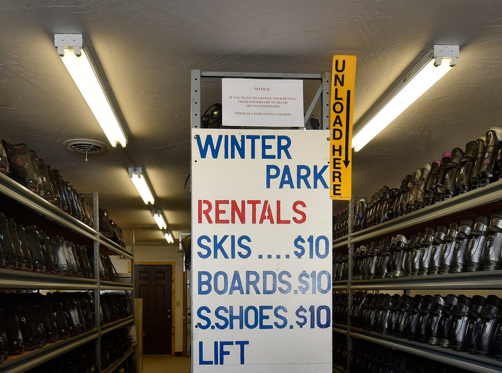 The cost of $10 equipment rental included boots, helmet and poles at Winter Park, Kewaunee. Tina M. Gohr/USA TODAY NETWORK-Wisconsin