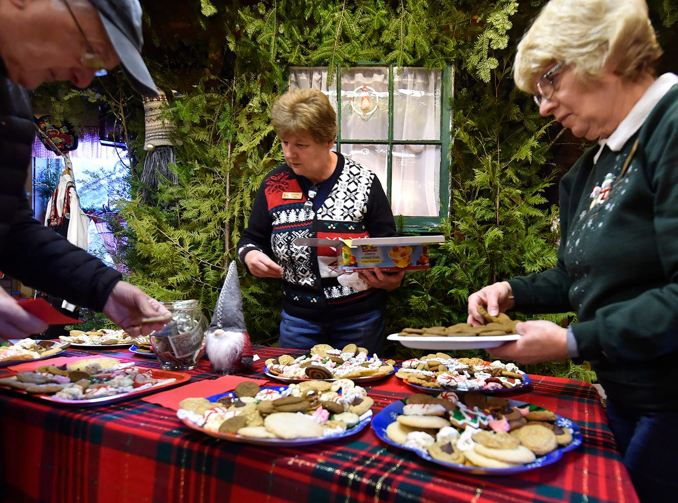 Volunteers kept the table stocked with homemade cookies during Natural Christmas at The Ridges Sanctuary, Baileys Harbor, on Saturday, Dec. 8, 2018. Tina M. Gohr/USA TODAY NETWORK-Wisconsin