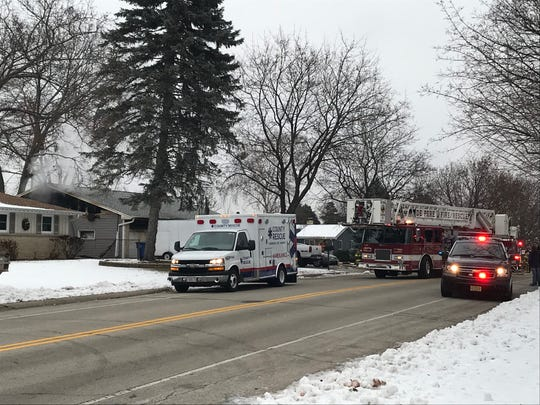 Crews respond to a fire in the 900 block of Marvelle Lane.