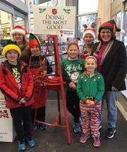 Raymond Paye, left, Bethany Paye, Grant Pieschek, Alanna Paye, Rosalyn Paye, Mikayla Pieschek and Sue Pieschek rang the bells for Salvation Army Dec. 1, 2018, in Sturgeon Bay.