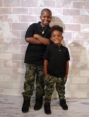 Jamire Halley, 8 and Arnez Jamison Jr., 4