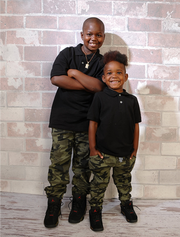 Jamire Halley, 8 and Arnez Jamison Jr., 4