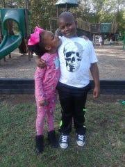 Jamire Halley, 8 and Robbiana Evans, 6