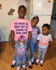 Jamire Halley, 8, Robbiana Evans, 6, Arnez Jamison Jr., 4, and Ar'mani Jamison, 2