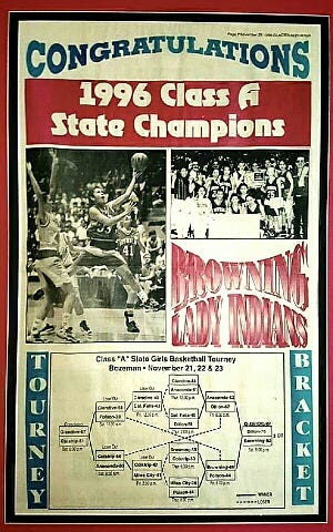 The state champion Browning Indians were feted in their hometown newspaper after winning the state championship in 1996.