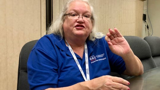 Cynthia Cowell, public information officer for the U.S. Small Business Administration, talks about low-interest federal disaster loans available to Guam residents and businesses whose properties were damaged by Typhoon Mangkhut in September.