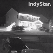 Watch this driver scope out Greenwood home, destroy 12-foot Christmas decoration