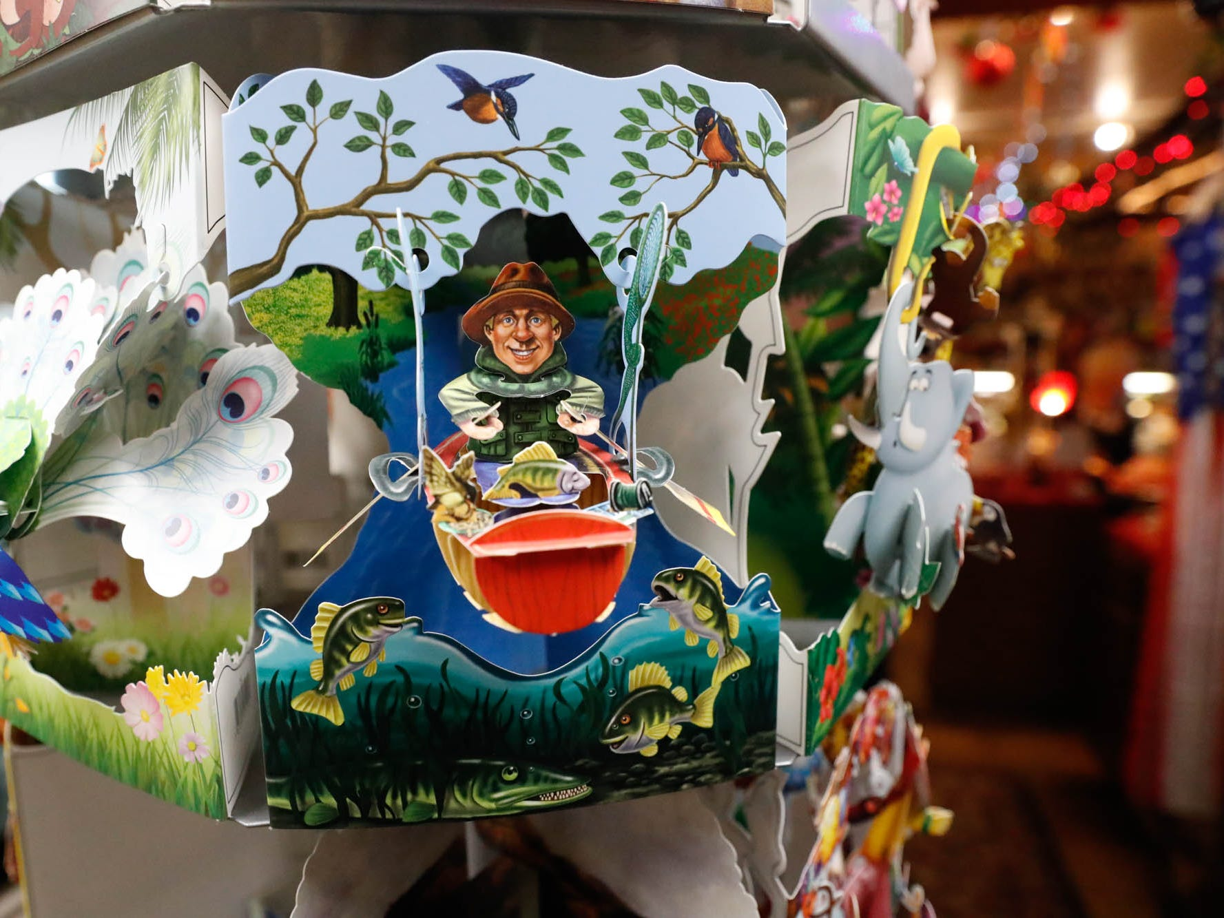 A pop up card is on display at Heidelberg Haus Cafe and Bakery, 7625 Pendleton Pike, Indianapolis Ind., on Saturday, Dec. 8th, 2018. The cafe, bakery, and German grocery is well known for its extensive collection of German Kitsch.