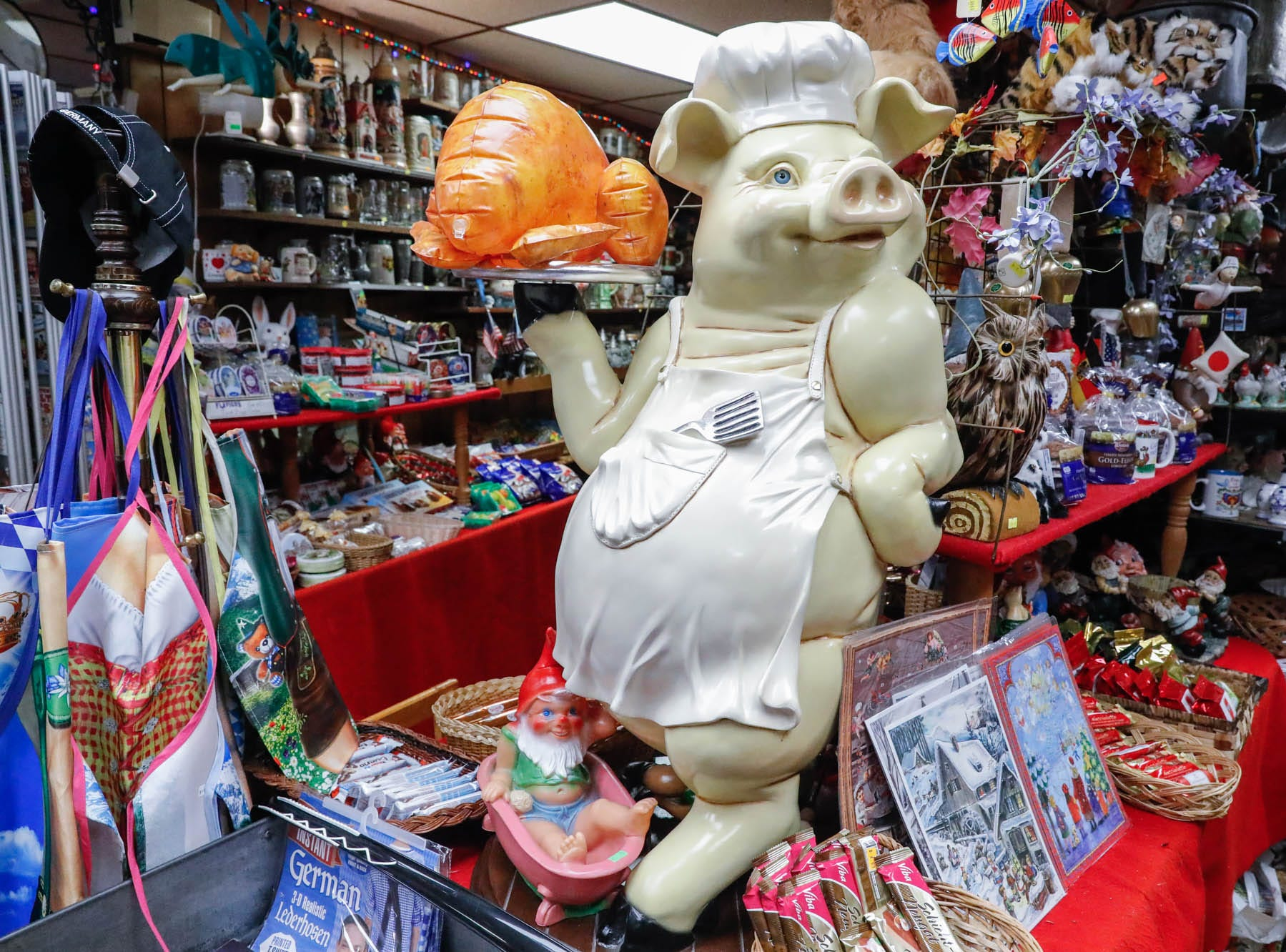 Heidelberg Haus Cafe and Bakery, 7625 Pendleton Pike, Indianapolis Ind., on Saturday, Dec. 8th, 2018. The cafe, bakery, and German grocery is well known for its extensive collection of German Kitsch.