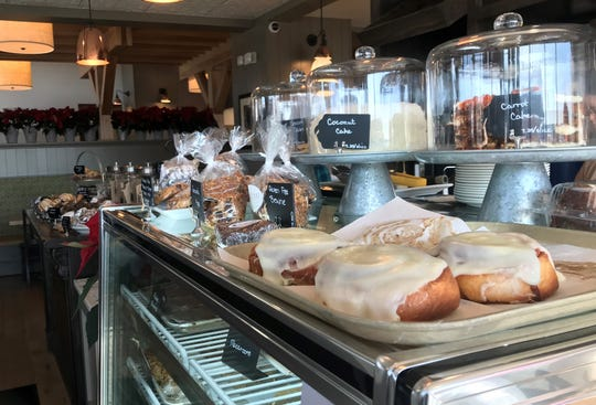 Cinnamon rolls, cakes, cookies and other baked goods tempt you for brunch as soon as you walk inside Rosie's new location in Carmel. The breakfast/brunch/lunch spot is at 1111 W. Main St., Suite 100.
