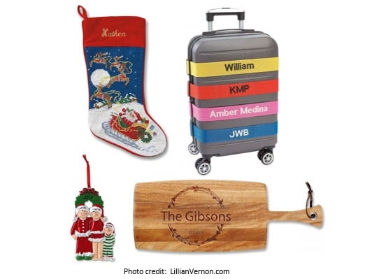 Personalized gifts from ornaments & stockings to luggage straps & home goods. Get 20% off your order.