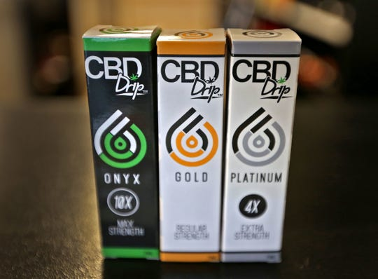 This is one of the CBD products for sale at Hoosier Vapor in Plainfield, seen Thursday, Nov. 30, 2017.