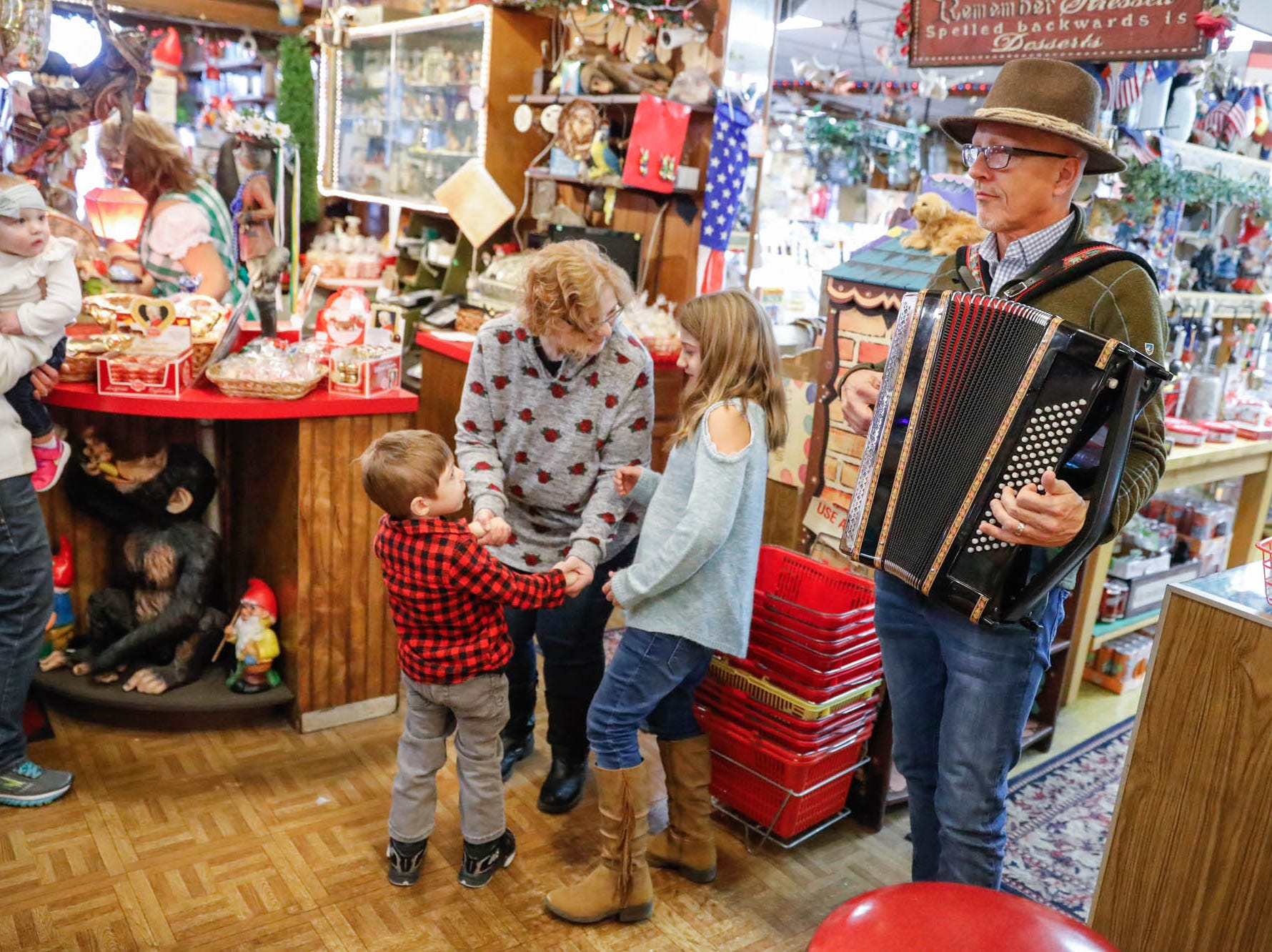 Heidelberg Haus Cafe and Bakery celebrates its 50th year in business with a party on Saturday, Dec. 8th, 2018. The cafe, bakery, and German grocery is well known for its extensive collection of German Kitsch.