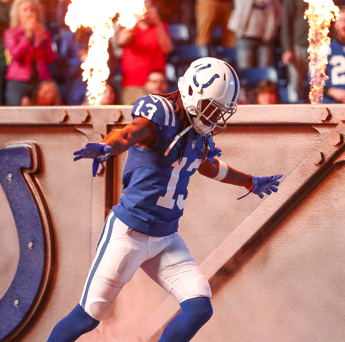 Colts WR T.Y. Hilton's status against Cowboys 'still up in the air' due to ankle injury