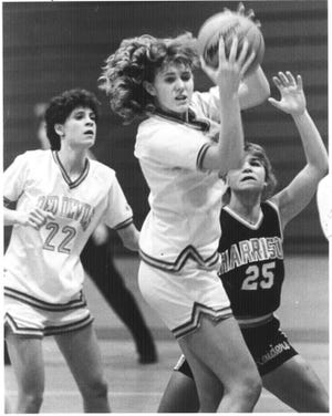 West Lafayette graduate Meridith Sanders (center) was an Indiana All-Star and team captain at New Mexico State.