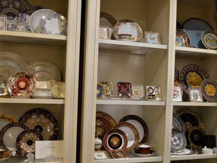 Versace china sold at Jody's Inc.