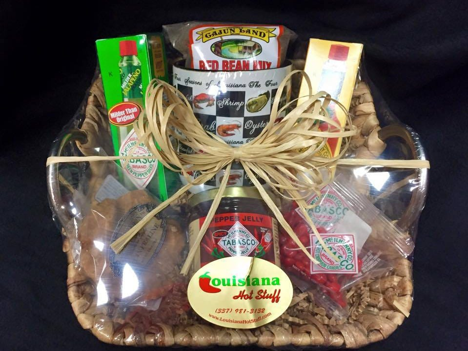 Louisiana spice basket sold at Louisiana Hot Stuff