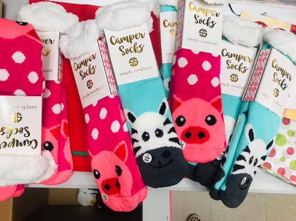 Adorable children's socks sold at Towne Pharmacy