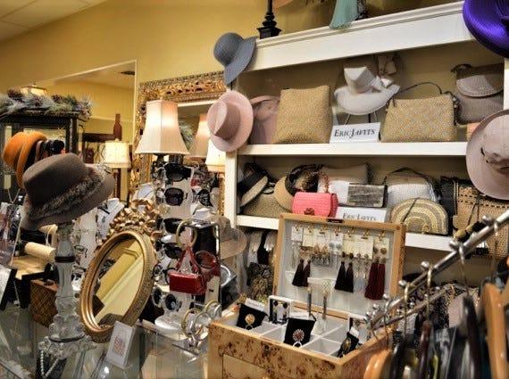 Designer hats and purses sold at Jody's Inc.