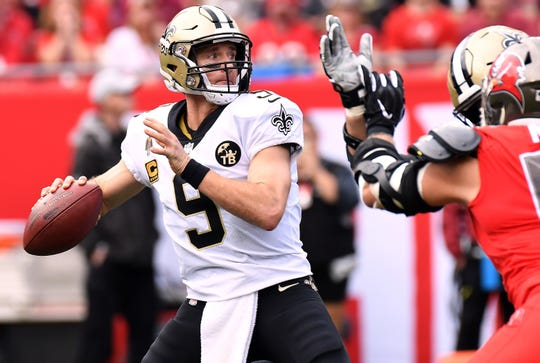 Saints quarterback Drew Brees has been spending a lot more time holding the ball in the pocket in recent weeks.
