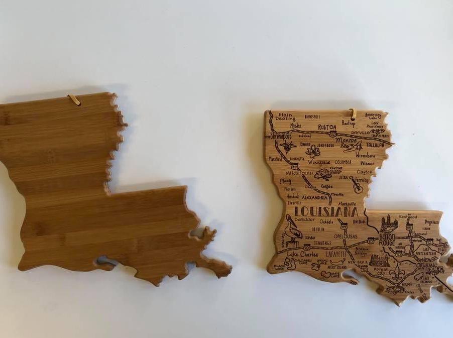 Louisiana ornaments sold at The Gift Pod