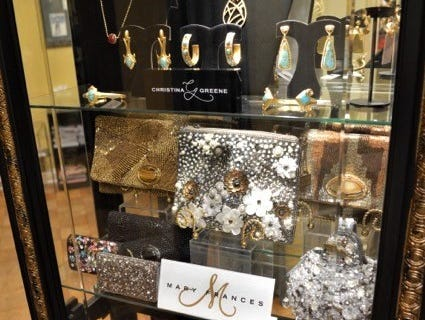 Designer jewelry and hand purses sold at Jody's Inc.