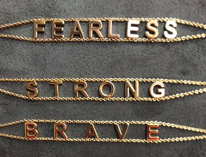 Inspirational bracelets sold at Towne Pharmacy.