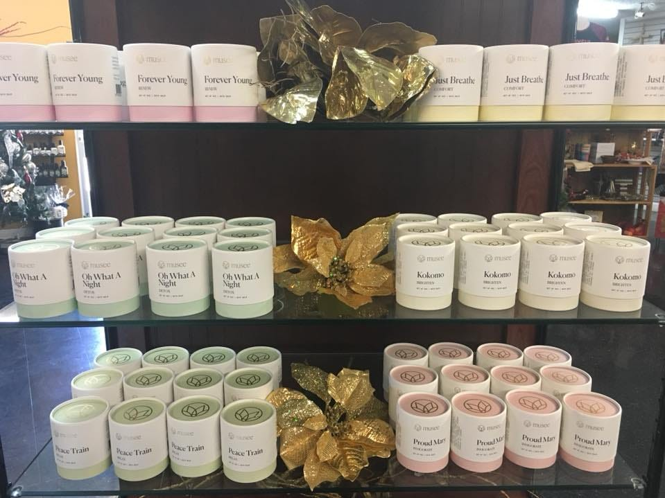 Great smelling bath balms sold at Flowers and More by Dean