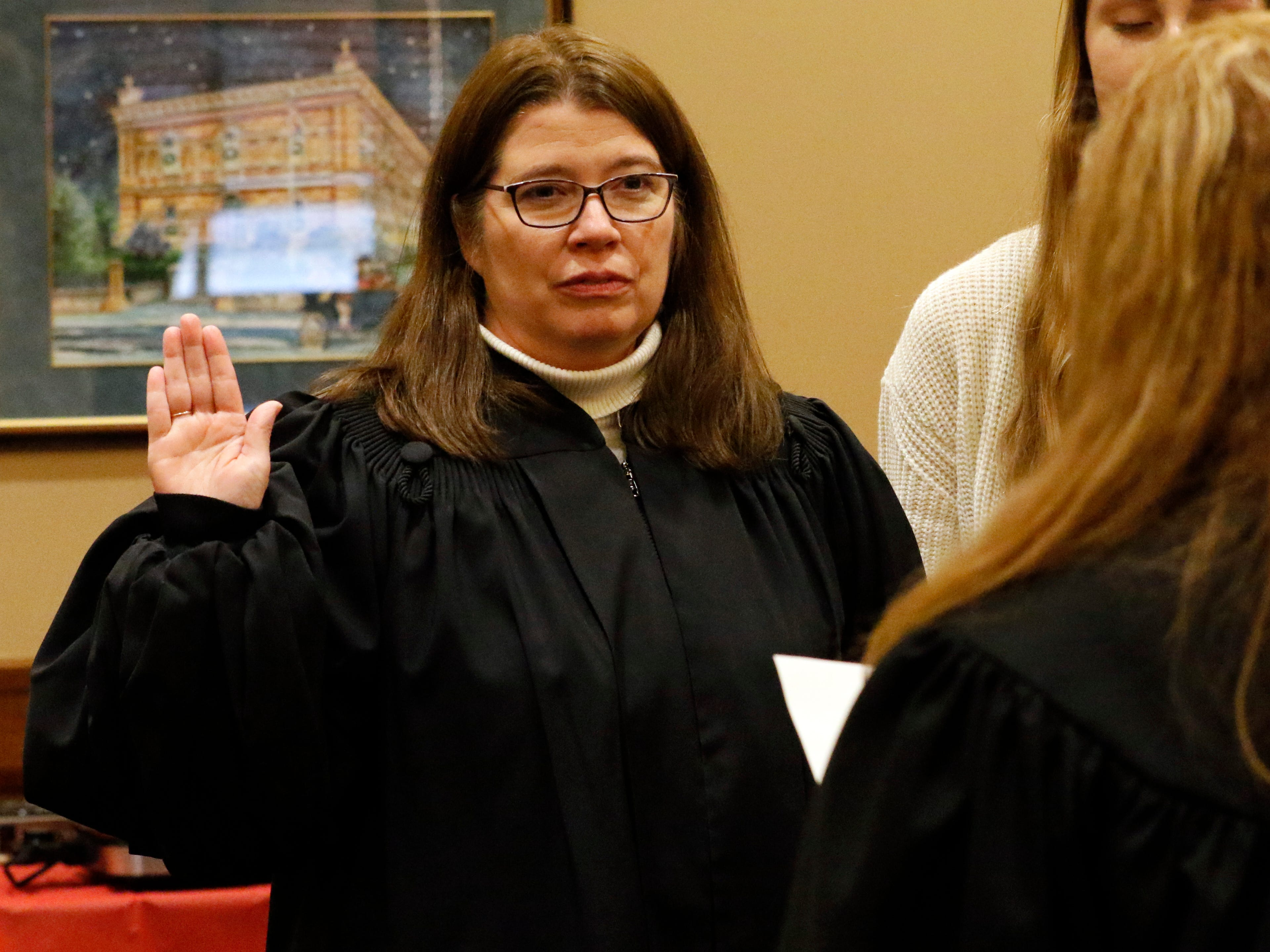 Fairfield County Common Pleas Court Domestic Relations Judge Laura Smith is sworn in Tuesday, Dec. 11, 2018, in Lancaster.