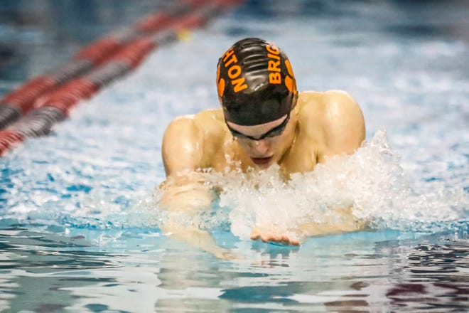 Drew Panzl is one of seven athletes who competed in the state swimming and diving meet for Brighton last season.
