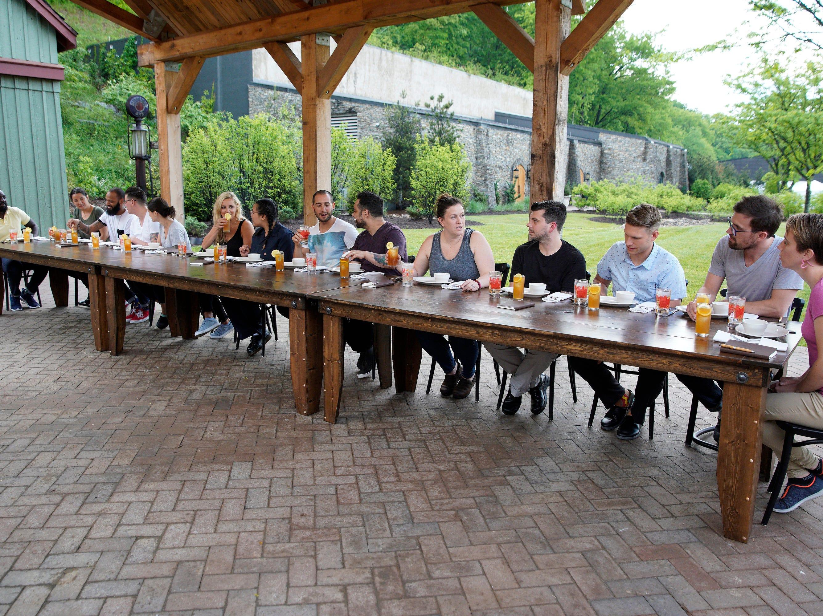 "Cheftestants dine at the Maker's Mark distillery on episode 2 of ""Top Chef"" season 16."