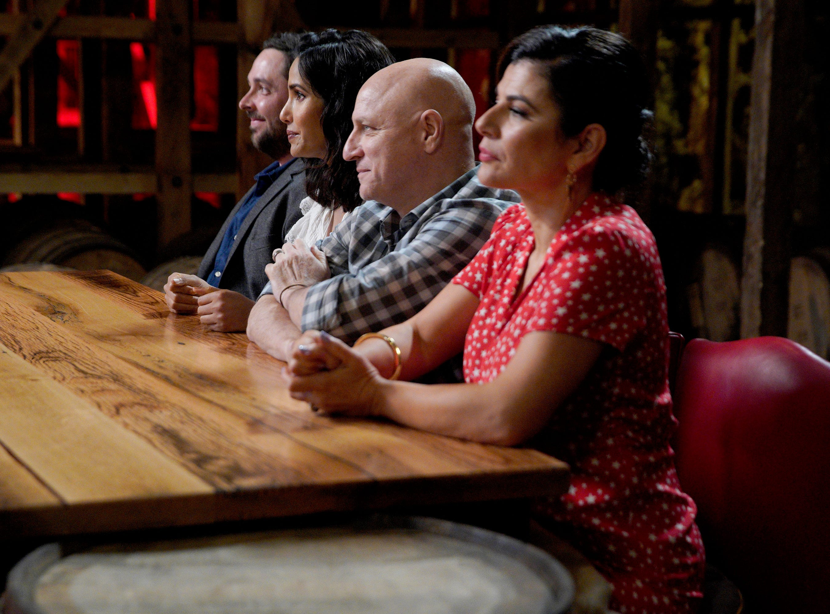 """Judges Newman Miller, Padma Lakshmi, Tom Colicchio and Nilou Motamed decide who will go home on episode 2 of """"Top Chef"""" season 16."""