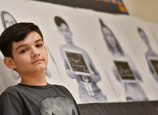 Jaden Perez, 14, has been called an illegal immigrant by fellow students since the fourth grade. He says the name-calling has increased since Donald Trump has been president.