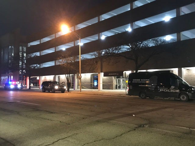 A man was critical injured after falling off the top level of this parking ramp at Lansing Community College on Monday night. Police said no foul play was involved.