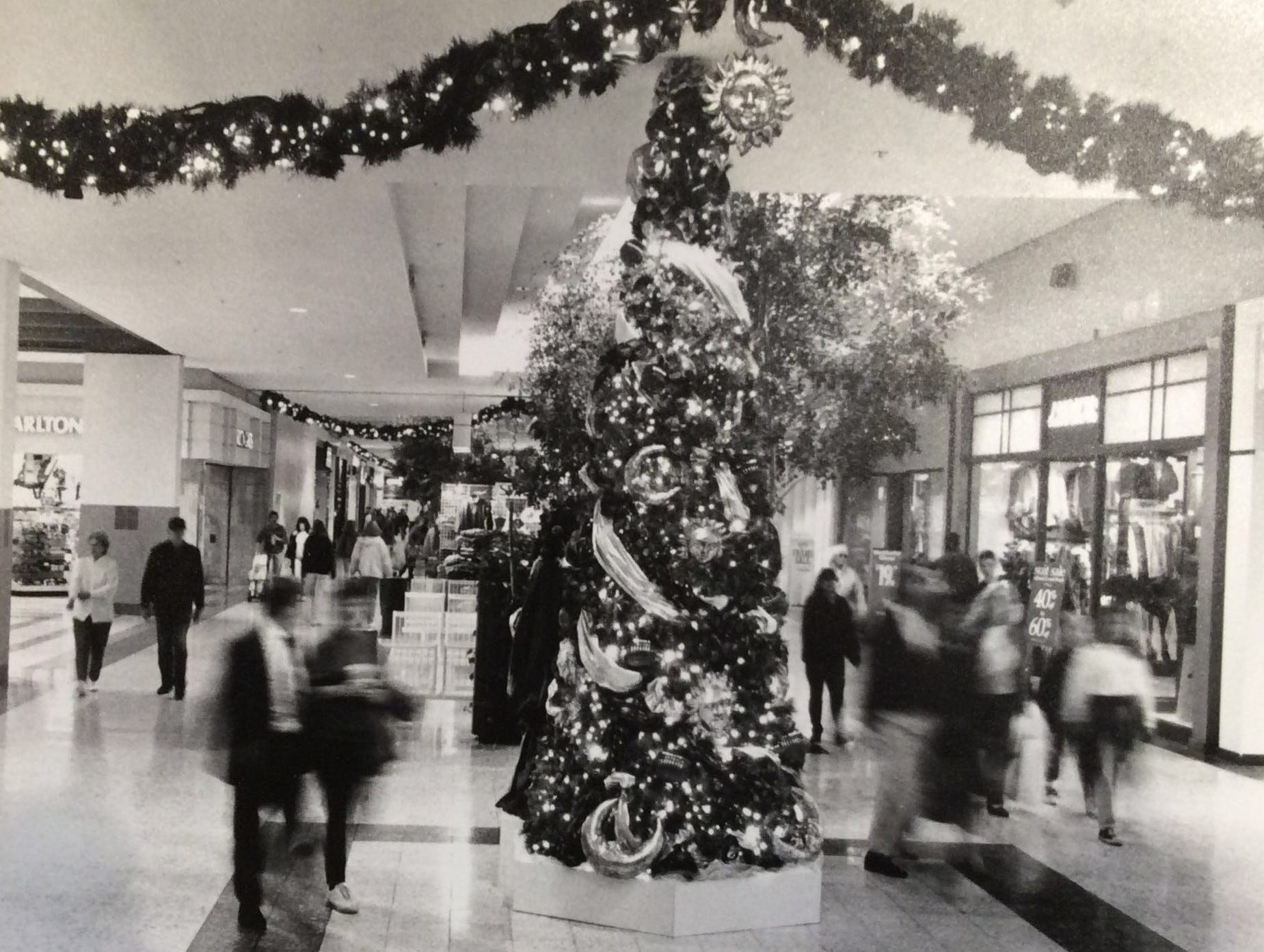 Holiday shoppers at the Meridian Mall, 1993.