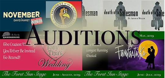 The Forst Inn is holding auditions for upcoming shows.