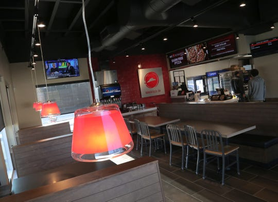 The interior of the new Pizza Hut on Lexington Avenue in Mansfield.