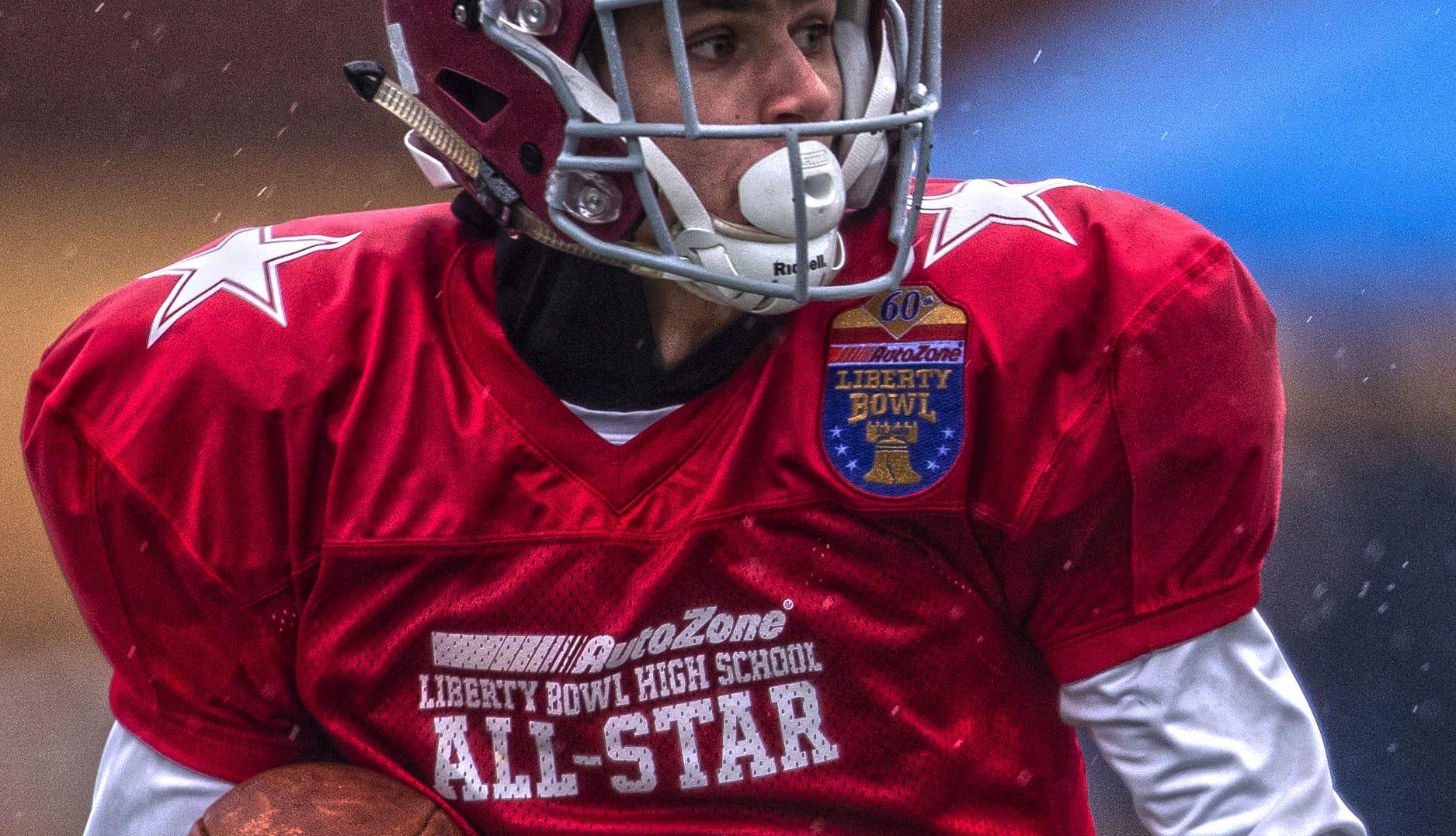 ECS WR Dawson Williams wins MVP in Liberty Bowl All-Star Game