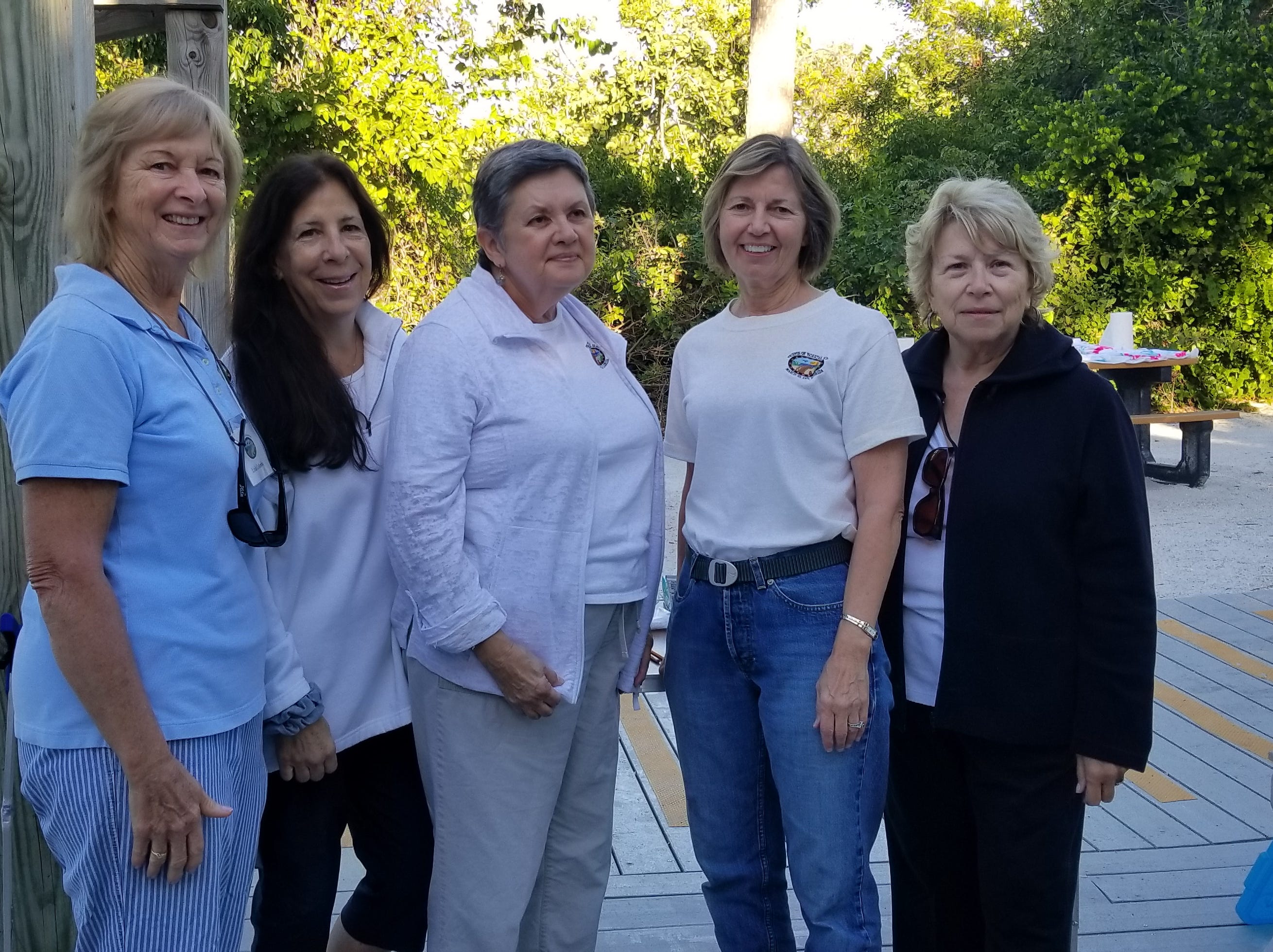 Members of Friends of Tigertail Board: Linda Colombo, Susan Lagrotta, Gwyn Goodman, Allie Delventhal and Mary Ann Maniace.