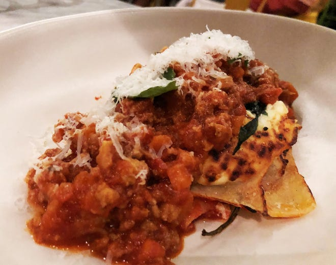 The lasagna Bolognese from True Food Kitchen, Naples.
