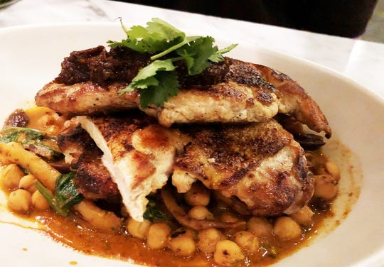 The Moroccan chicken from True Food Kitchen, Naples.